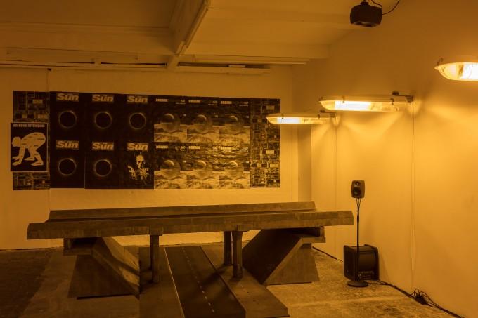 Mark Leckey, Affect Bridge Age Regression, installation views, Cubitt, 2017. Photography by Mark Blower.